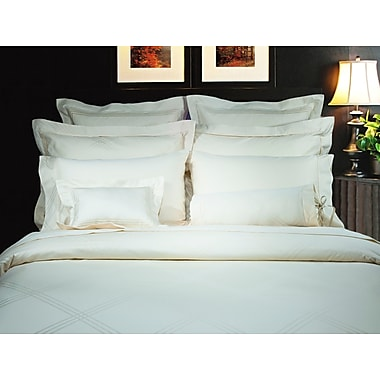 Highland Feather Champagne Diamond Duvet Cover Ensemble, King