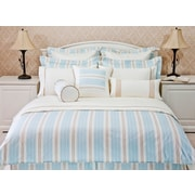 Highland Feather – Ensemble de housse de douillette Aqua Empire Stripe