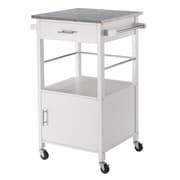 Winsome Davenport Kitchen Cart, Granite Top, White (10123)