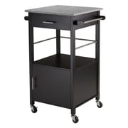 Winsome Davenport Kitchen Cart, Granite Top, Black (20023)