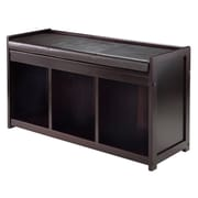 Winsome Addison Storage Bench with Cushion Seat, Espresso (92349)