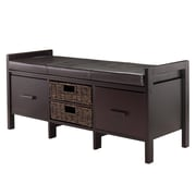 Winsome Fulton Storage Bench with Cushion Seat, Espresso (92644)