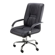 Winsome Executive High Back Chair, Adjustable, Black Faux Leather, Chrome Base (93033)
