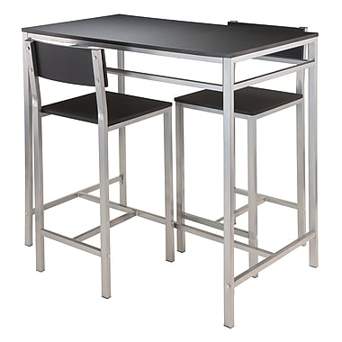 Winsome Hanley 3-Piece High Table with 2 High Back Stools