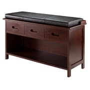 Winsome Adriana Storage Bench with Cushion Seat, Walnut  (94306)