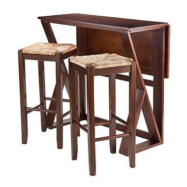 Winsome Harrington 3-Piece Drop Leaf High Table, 2-29
