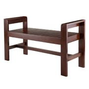 Winsome Thomas Bench with Armrests, Walnut (94541)