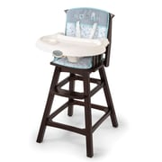 Summer Infant Classic Comfort Reclining Wood High Chair, Turtle Tales Collection