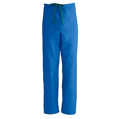 Medline PerforMAX Unisex Small Reversible Scrub Pants, Royal Blue (800JRLS-CA)