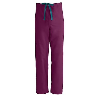 Medline PerforMAX Unisex Medium Reversible Scrub Pants, Wine Blue (800JWNM-CA)