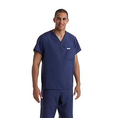 Medline PerforMAX Unisex Medium One-Pocket Reversible Scrub Top, Navy (810NNTM-CM)