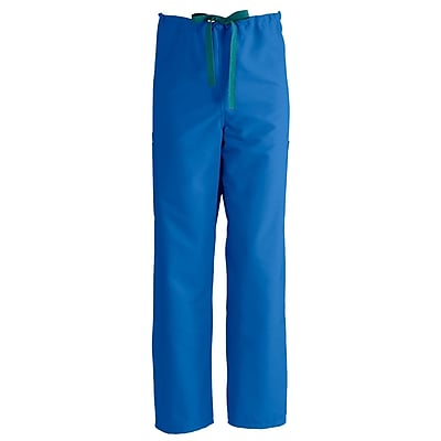 Medline ComfortEase Unisex Large Cargo Scrub Pants, Royal Blue (950JRLL-CM)