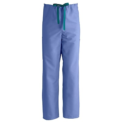 Medline ComfortEase Unisex XL Cargo Scrub Pants, Ceil Blue (950JTHXL-CM)