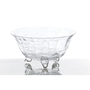 Abigails Classic Footed Crackle Salad Bowl