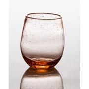 Abigails Tutti Frutti Bubble 16 Oz. Stemless Wine Glass (Set of 4); Light Pink
