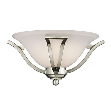 Z-Lite Lagoon 1-Light Wall Sconce; Brushed Nickel