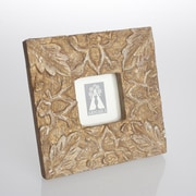 Abigails Provence Carved Leaves Wood Square Picture Frame