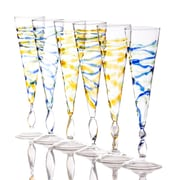 Abigails Rialto Spiral Champagne Flute Glass (Set of 6)