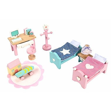 Le Toy Van Daisylane Children's Bedroom Deluxe Dollhouse Furniture Set