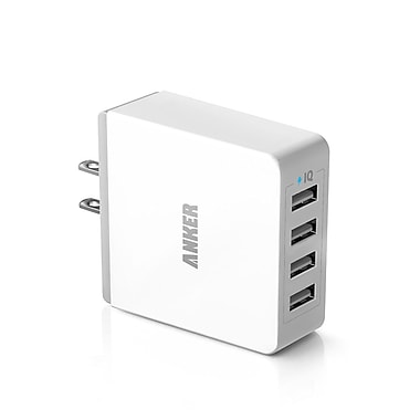 Anker® 36W 4-Port USB Wall Charger, White (71AN3654WS-WA)