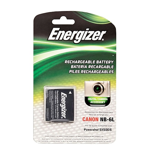 Energizer® Digital Replacement Battery NB-6L for Canon PowerShot SD4000; D10, IXUS 85 IS, & SX530