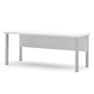Pro-Linea – Table avec pieds en métal, blanc