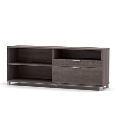 Pro-Linea Credenza with Drawers, Bark Grey