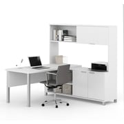 Pro-Linea 120864-17 L-Desk with Hutch, White