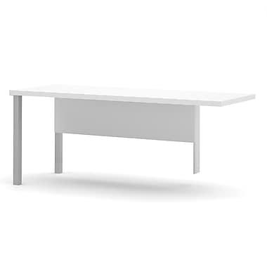 Table de retour Pro-Linea avec pattes en métal, blanc