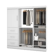 Nebula by Bestar 80'' Classic Kit with 1 Door & 3 Drawers, White