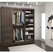 Nebula by Bestar 80'' Classic Kit with 1 Door & 3 Drawers, Antigua
