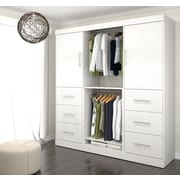 Nebula by Bestar 80'' Classic Kit with 2 Doors & 6 Drawers, White