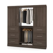 Nebula by Bestar 80'' Classic Kit with 2 Doors & 6 Drawers, Antigua