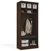 "Pur by Bestar 36"" Storage Unit with Bench, Chocolate"