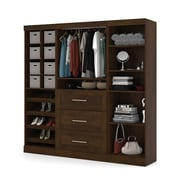 "Pur by Bestar 86"" Classic Kit with Cubbies & 36"" Drawers, Chocolate"