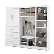 "Pur by Bestar 97"" Mudroom Kit, White"
