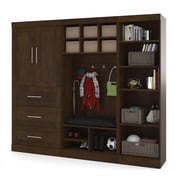 "Pur by Bestar 97"" Mudroom Kit, Chocolate"