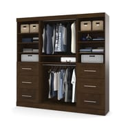 "Pur by Bestar 86"" Classic Kit with 6 x 25"" Drawers, Chocolate"
