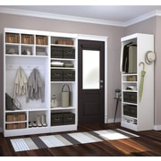 "Pur by Bestar 86"" Mudroom Kit, White"