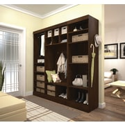 "Pur by Bestar 86"" Mudroom Kit, Chocolate"