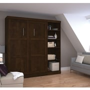"Pur by Bestar 84"" Full Wall Bed Kit, Chocolate"