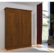 Versatile by Bestar 64'' Full Wall Bed, Tuscany Brown