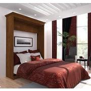 Versatile by Bestar 70'' Queen Wall bed, Tuscany Brown
