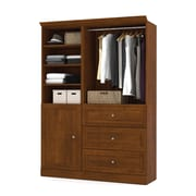 "Versatile by Bestar 61'' Classic Kit with 36"" Drawers & a 25"" Door, Tuscany Brown"