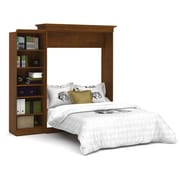 Versatile by Bestar 92'' Queen Wall Bed Kit with 25'' Storage, Tuscany Brown