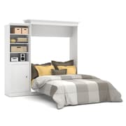 Versatile by Bestar 92'' Queen Wall Bed Kit with 25'' Storage & Door, White