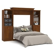 Versatile by Bestar 115'' Queen Wall Bed Kit with 2 Doors, Tuscany Brown