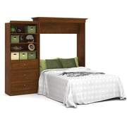 Versatile by Bestar 101'' Queen Wall Bed Kit, Tuscany Brown