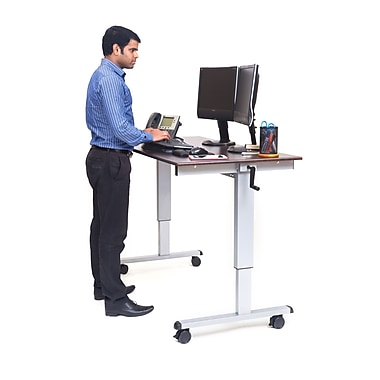 Luxor 48 Quot Crank Adjustable Stand Up Desk Staples