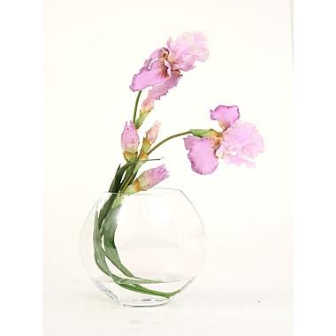 Distinctive Designs Silk Iris Disc Vase